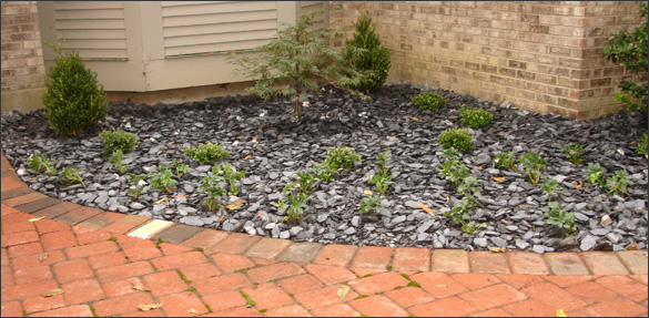 stone wall landscaping